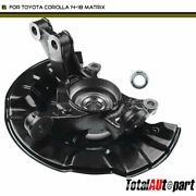 Front Driver Wheel Bearing Hub Knuckle Assembly For Toyota Corolla 14-18 Matrix
