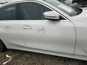 2019 Bmw 330i Passenger Right Front Door Assembly Pearl White