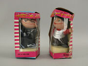 Lot 2 Vtg Nos Hong Kong Happy Doll W/friction Both In Box Rare Dime Store Toys