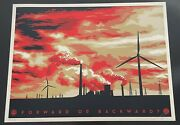Shepard Fairey Forward Or Backward Print Signed Obey Poster Last Mountain Signed