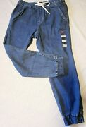 Leviand039s Womanand039s Jet Set Jogger Pants Pull On Denim Taper Medium Wash Size Small