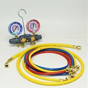 Yellow Jacket 49965 Titan 4-valve Manifold With Charging Hoses For R32/r410a
