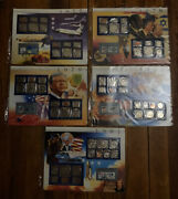 Us Uncirculated Coin Mint Sets With Historic Stamps 1977 1978 1979 1980 And 1981