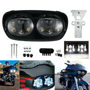 For Harley Road Gilde 2004-2013 Motorcycle Dual Led Projector Headlight Lamp