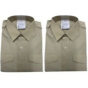 Mans Fawn Dress No2 Shirt - Long And Short Sleeve Pack Of Two New British Army
