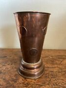 Antique Georgian Copper Gaming Coin Tankard With Dice, Wager Cup