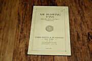 Rare 1932 Brochure Air Blowing Fans Oil Gas Furnace Furnaces Vintage History
