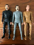 3 Marx's Mold Johnny West - Knight - Viking Figurines Mint With Accessories