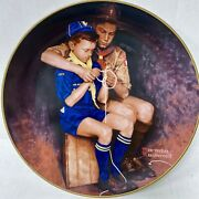 Norman Rockwell Boy Scouts Plate A Guiding Hand Plate Only Free Shipping