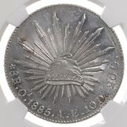 1885 Oa Ae Mexico 8r Ngc Certified Ms62 Mint State Graded Mexican Silver Coin