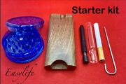 Wood Dugout With 3 Glass Hitter Metal Hitter Self Cleaning Hitter And Grinder
