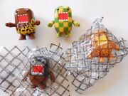 Set Of 4 Domo 2 Qee Collectible Figures, Dark Horse Toy2r