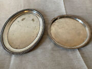 Lot Of 2 Reed And Barton Epns 4092 980 Silver Plate Serving Tray Dish