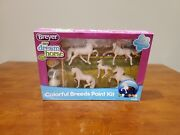 Breyer Stablemates Horse Crazy Colorful Breeds Paint Kit 5 Horses Brand New