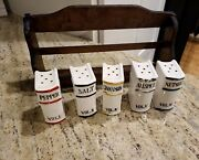 Vintage Wooden Spice Rack Japan. With Book Spice Containers Read