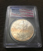 Tarnished 2001 1 1 Of 531 Silver Eagle Pcgs Wtc World Trade Center 911 Recovery