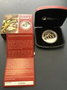 2013 Year Of Snake 1oz 1 999silver Proof Coin Coin Number 0588