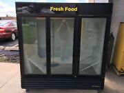 Cooler Refrigerator Merchandiser Display True Gdm-72 Rich-in 3 Glass Doors