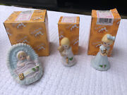 Growing Up Birthday Girls Blonde Lot. Baby 1 2 With Boxes Excellent Condition