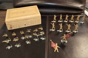 23 Vintage German Wwii Nazi Tin Soldiers - Lead - Original From Early 1940and039s