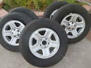 Goodyear Wrangler Used Tires And Wheels P225/75r16 Mounted On Jeep Rims.