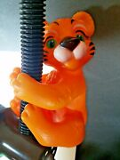Vintage Pole Hugger Hard Rubber Vinyl Tiger Cub Coin Bank 7