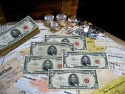 Lot Of 5 5 Five Dollar Red Seal Notes Mixed Series And Condition