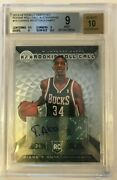 2013-14 Totally Certified Rookie Roll Call Auto 19 Giannis Antetokounmpo Bgs 9