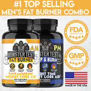 Monster Test Men's Day And Night Fat Burner Weight Loss Combo 2-pack