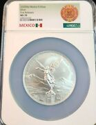 2020 Mexico Silver Libertad 5 Onza Ngc Ms 70 Low Mintage Scarce Perfection
