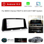 8-core Android 10 Car Gps Player Video Wireless Carplay For Bmw 6 Series F06 F12