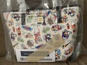 Disney Dooney And And Bourke Captain Mickey Friends Ink Paint Tote Cruise Line Htf