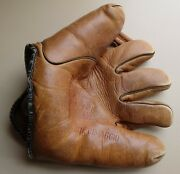 Vintage Joe Dimaggio Baseball Glove/mitt Andndash 1930and039s-40andrsquos Andndash Ok Mfg. Co. Ada Ohio