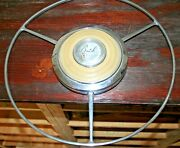 1940 Buick Horn Ring And Center Cap And Plastic In Good Condition.