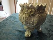 Rare Belleek Footed Flower Pot Large Blk Second Mark Worth Taking A Look