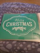 Chalk Couture Transfer Merry Christmas Evergreen Sprig Size B