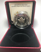 2020 Royal Canadian Maple Leaf Brooch Legacy 30 2oz Pure Silver Proof Coin