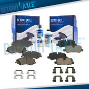 Front Rear Ceramic Brake Pads With Hardware For Land Rover Lr4 Range Rover Sport