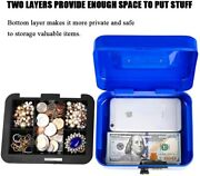 Small Cash Box Locking Money Tray With Combination Lock Durable Metal Safe
