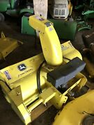 """John Deere Lawn Mower Tractor 46"""" Single Stage Quick Hitch Snowthrower Only"""