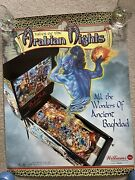 Williams Tales Of The Arabian Nights Pinball promotional Poster 1996 dos 22x28