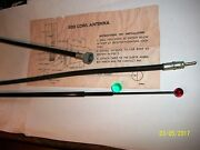 1930and039s Thru 1940and039s Style Side Mount Redball And Green Ball Tip. Black Antenna