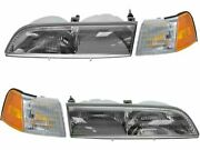 Headlight Assembly And Parking Light Kit For 1989-1993 Ford Thunderbird W529sb