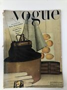 Vogue 1940s Magazine Vintage October 1943 30 Pages Accessories Gloves Hats Bags