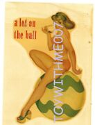 Vintage Decal Cheesecake Pinup A Lot On The Ball Hot Rat Rod Sexy Glamour Girl F