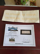 Extremely Rare Titanic Original Screen Used Gold Transfer Ticket Movie Prop