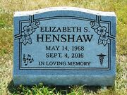 Cemetery Slant Marker 24x10x16 Includes Engraving