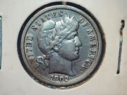 Two Barber Dimes - 1902 Ef And 1902o Vf