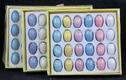 72 Mini Glitter Easter Egg Hand-painted Wooden Tree 3/4 Ornaments