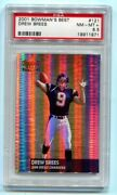 2001 Bowmanand039s Best Drew Brees Refractor Rc 92/1499 Psa 8.5 Nm-mt+